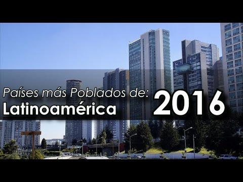 Países más poblados de Latinoamérica 2016 | Wikipedia