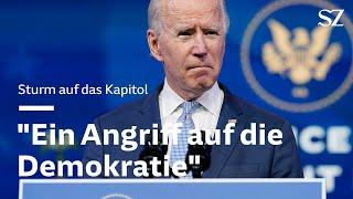Joe Biden äußert sich zum Sturm auf das Kapitol