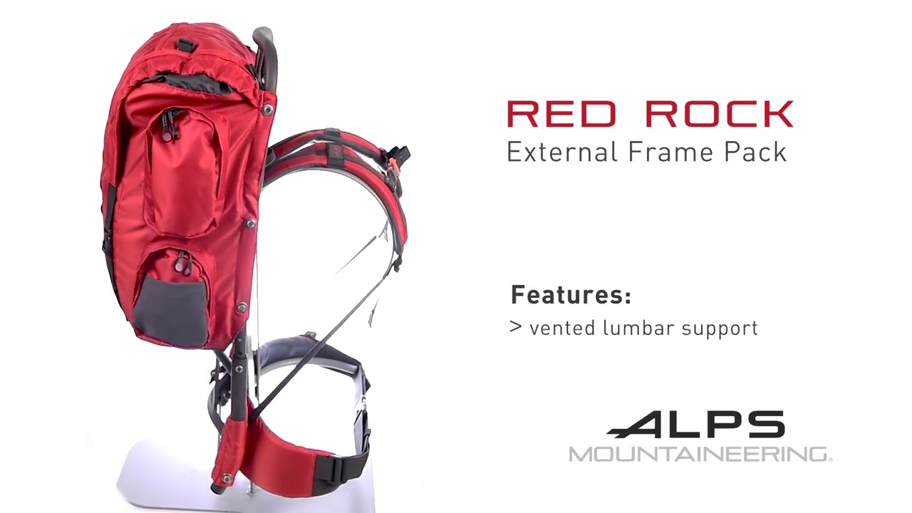 0fd719e72048 ALPS Mountaineering Red Rock External Frame Backpack Specs and Features