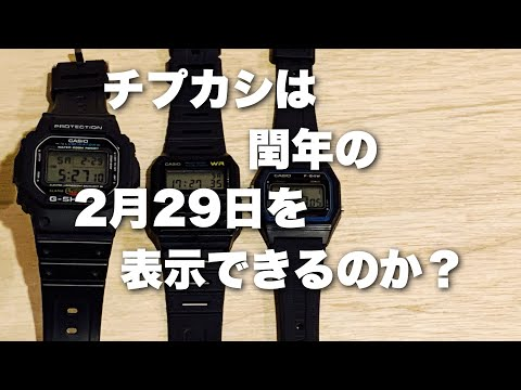 チープカシオとG SHOCKは閏年の2月29日を表示できるか?チプカシちゃんねる チプカシスト・ヒデオ