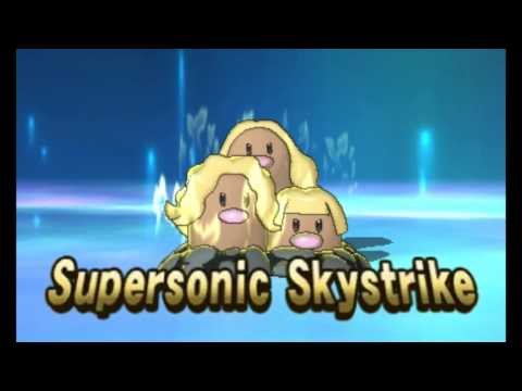 Funniest Z Move Animation! Fly Through The Skies Dugtrio!