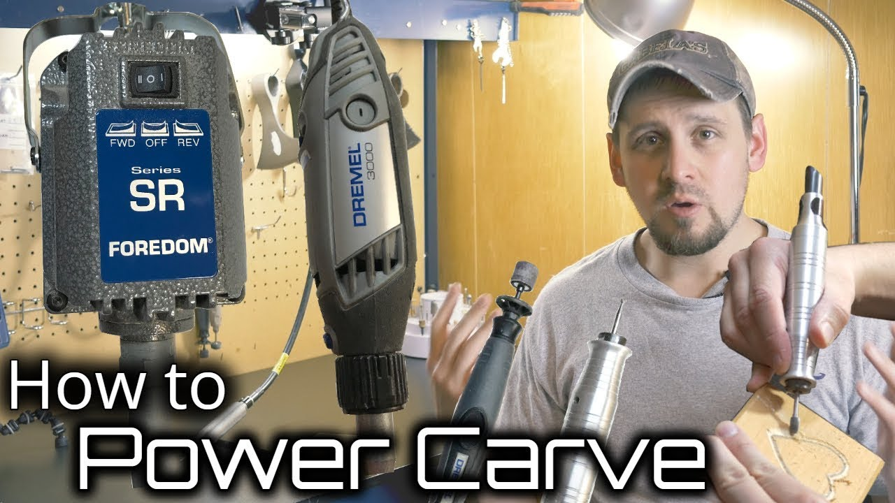 How to Wood Carve/Power Carve With Any Rotary Tool - YouTube