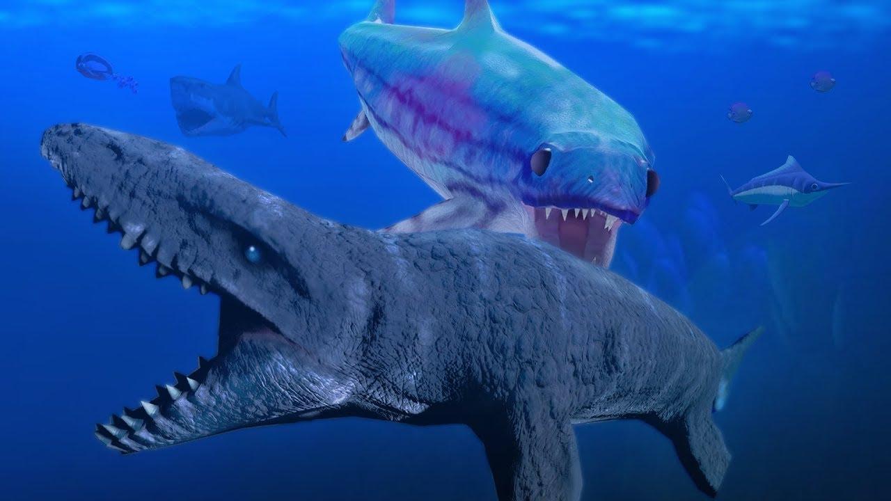 GIANT ICHTHYOSAURUS vs MOSASAURUS! - Feed and Grow Fish ...