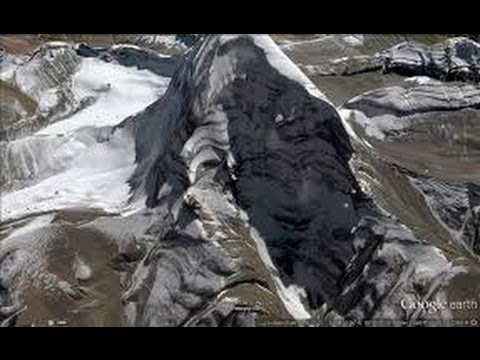Lord Shiva's mount kailash view from satellite map in Google Earth real picture