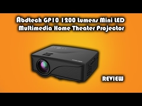 Abdtech GP10 HD LED 1200 Lumens Home Cinema Projector Review