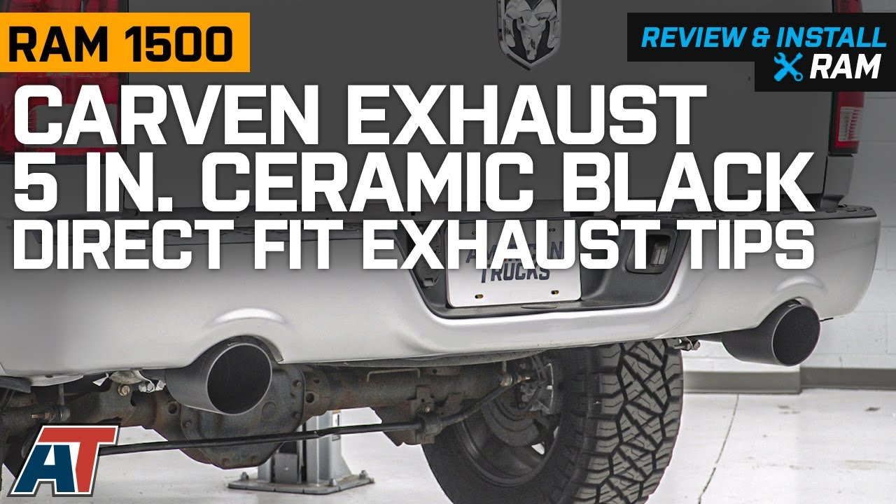 2009 2018 ram 1500 5 7l carven exhaust 5 in ceramic black direct fit exhaust tips review install
