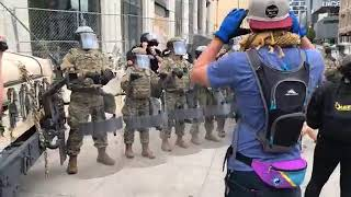 Grand Rapids protesters scatter after police, National Guard move in