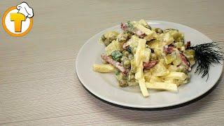 Салат закусочный. Пошаговый рецепт простого и вкусного салата.
