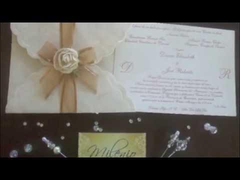 Invitaciones De Boda Artesanales Envío Nacional E Internacional Sin Costos Adicionales