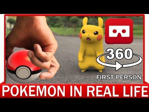 360° VR VIDEO - POKEMON REAL LIFE - First Person - POV   POKEMON GO   VIRTUAL REALITY