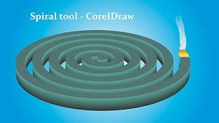 Using Spiral Tool & Extrude Tool - CorelDraw Tutorials