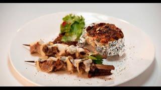 Цыганский шашлык из 4-х видов мяса с черным хлебом | Мясо. От филе до фарша