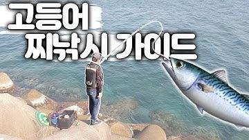 """바다낚시 고등어 찌낚시 초보자 가이드 """"강원도 수산항 포인트"""" 카드채비법 부터 활용까지 한번에!!! - sea fishing"""