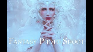The Winter Queen - Fantasy Photoshoot - Behind the Scenes with Sabrina Nielsen Photography