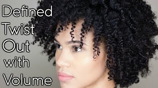 Natural Hair:  Defined Two Strand Twist Out w/ Volume