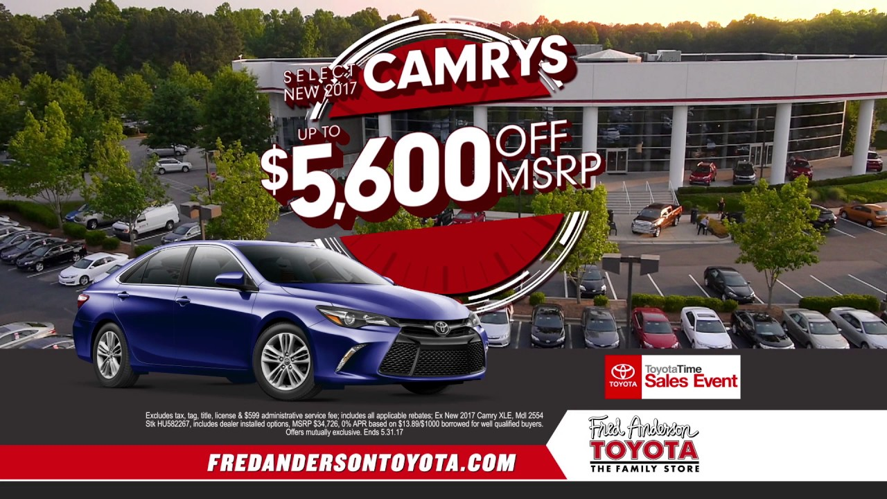 Fred Anderson Toyota Time Specials