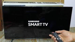 فتح صندوق شاشة سامسونج سمارت 43 بوصة 4K الترا اتش دي ال اي دي UA43RU7100 Samsung وشرح قوائم التشغيل