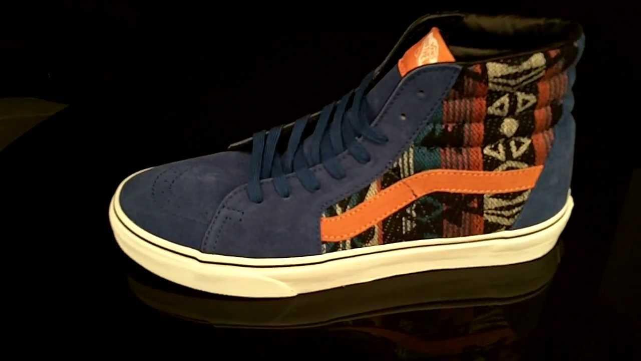 4b9de65754ae51 Vans Sk8-Hi Suede Inca True Blue Sneakers VTS98U4 - YouTube