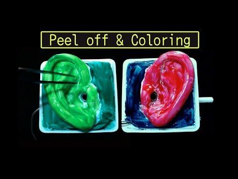 音フェチ・両耳に色を塗る2・Ear peel off & coloring sound