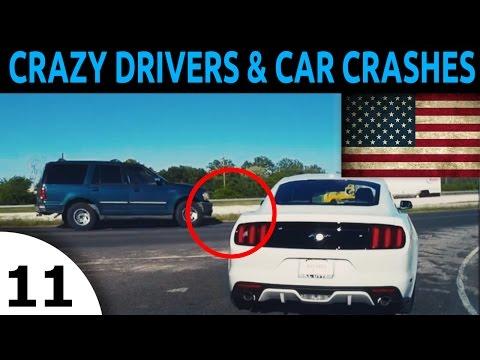 CRAZY DRIVERS AND CAR CRASH COMOILATION EPISODE 11 In USA