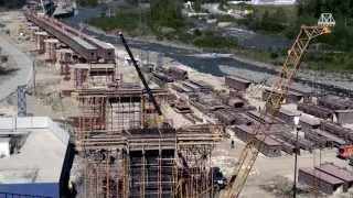 Строительство дороги Адлер—«Альпика-Сервис». Фильм, апрель 2013 г.