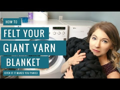 How to Easily Felt Your Giant Yarn Blanket (even if it makes you panic)