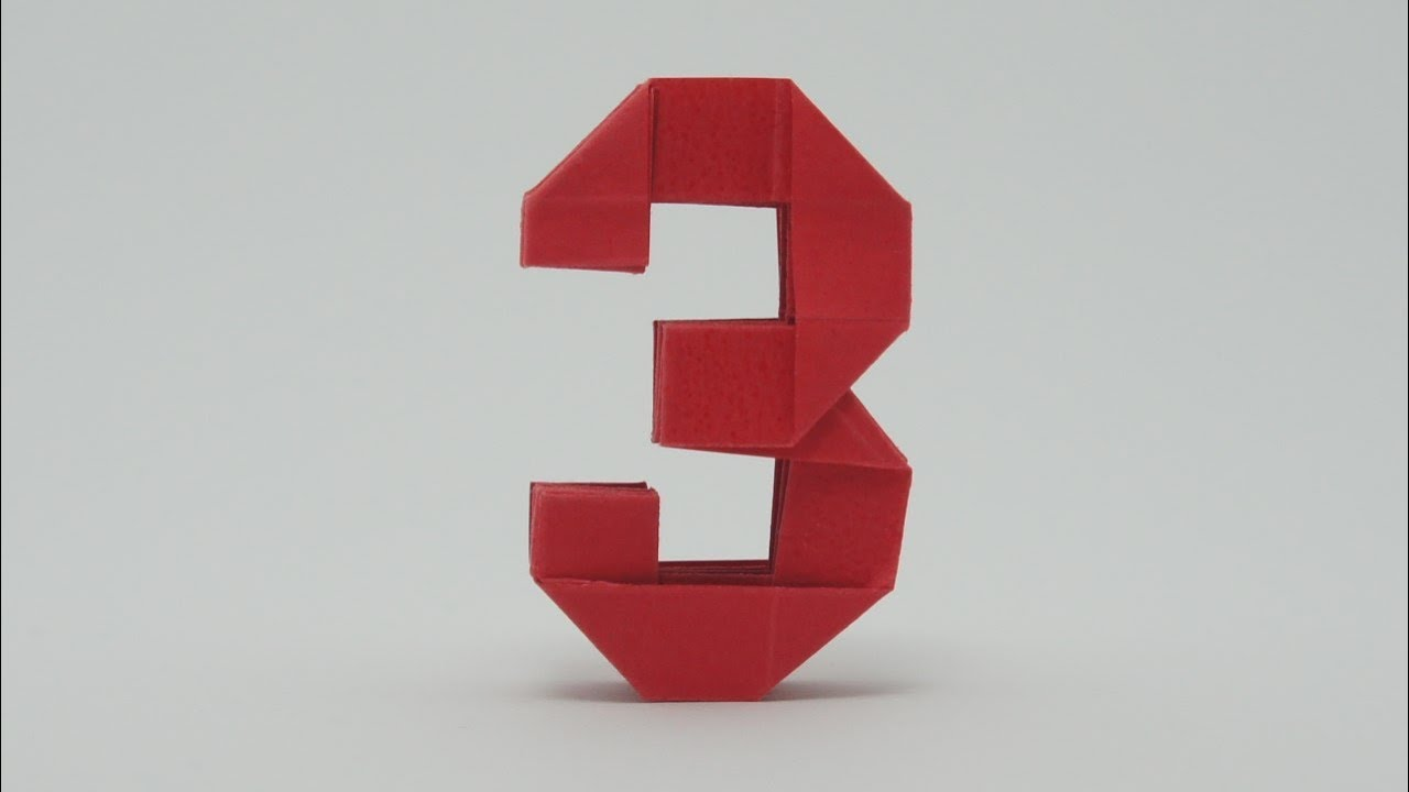 origami number 3 youtube