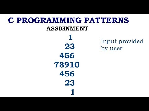 C Programming Patterns : (Assignment Question)