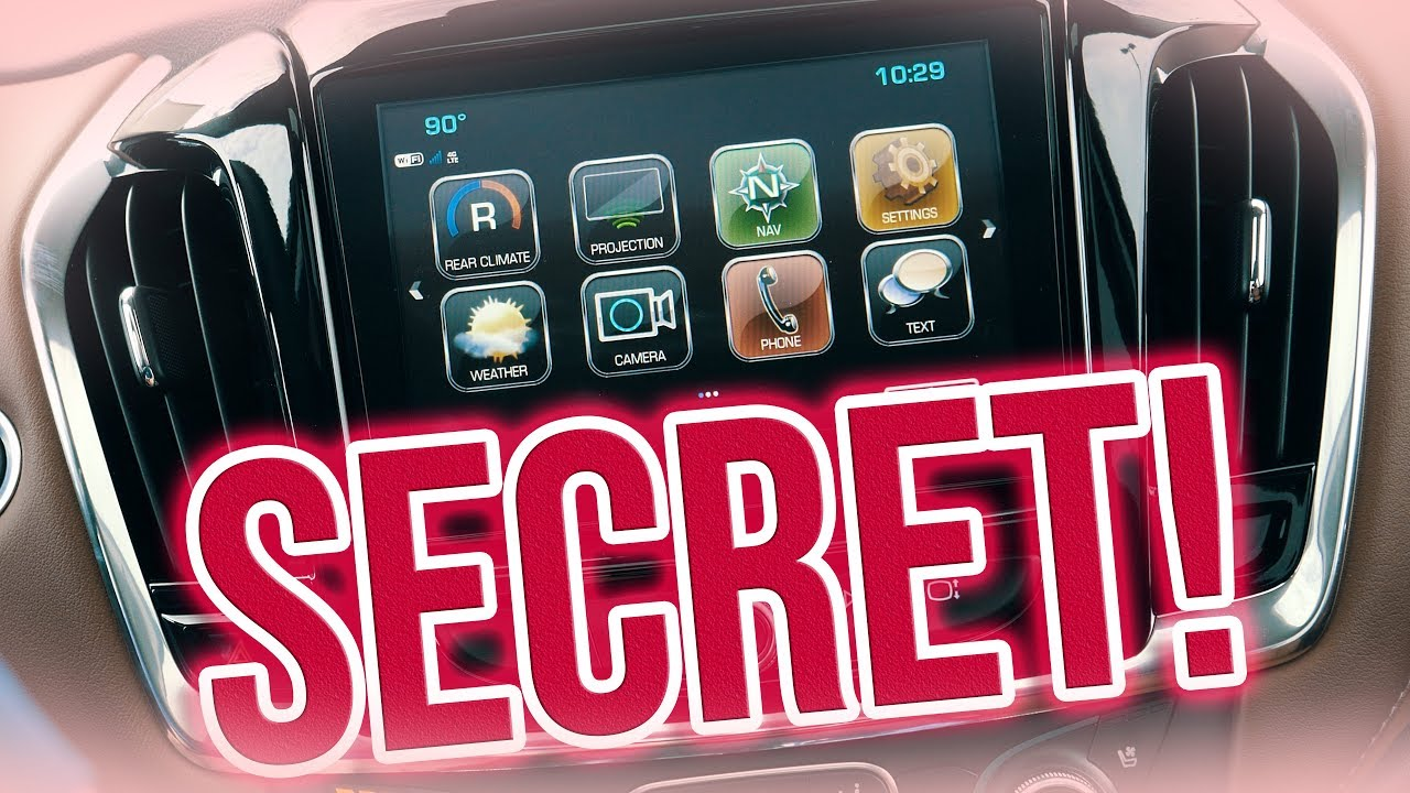 *SECRET* MyLink Customization! - 2018 Chevy MyLink system