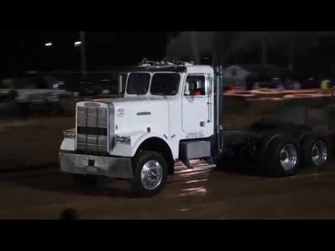 Hot Semis Truck Pulls Hookin For Hope Breast Cancer Awareness at Woodsfield OH  10-14-17