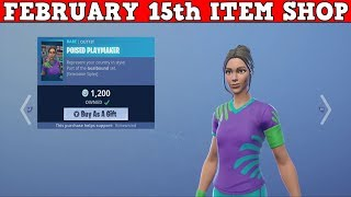Fortnite Item Shop (FEBRUARY 15th) | Epic Brought The SOCCER SKINS BACK!