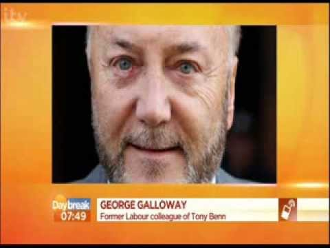 George Galloway on Tony Benn's death - ITV Daybreak - 14th March 2014