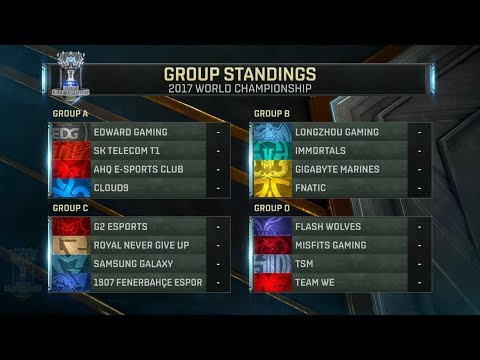 Worlds 2017 Main Event full groups draw - LoL World Championship 2017 final group draw