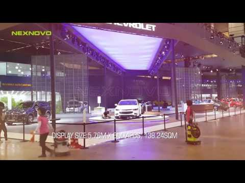 Cover image for NEXNOVO transparent LED screen at 2016 BUSAN AUTO SHOW KOREA