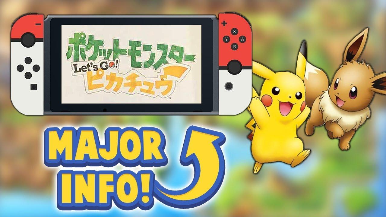 IS THIS POKÉMON SWITCH?! Pokémon Lets Go! Pikachu & Eevee! [Rumor]
