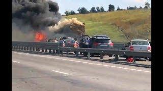 М4 Воронеж авария 30 машин 3.09.2017 (Полное видео произошедшего)