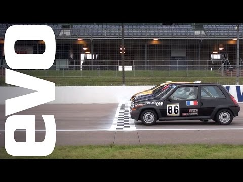 Renaultsport Clio & 5 GT Turbo race. Who will win? Four generations do battle.