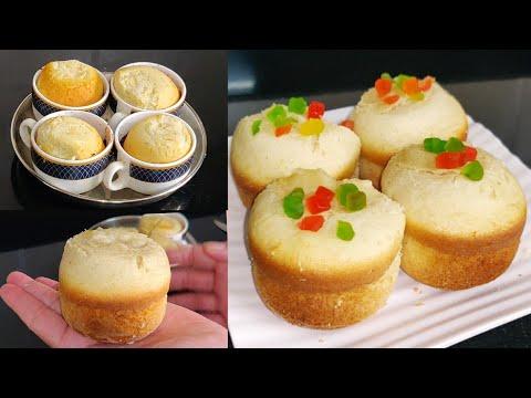 super fluffy vanilla tea cup cake recipe without oven and mould   1 egg vanilla sponge cake recipe