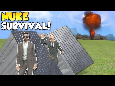 HOW TO SURVIVE A NUKE!? - Garrys Mod Gameplay - Gmod Nuke survival building roleplay