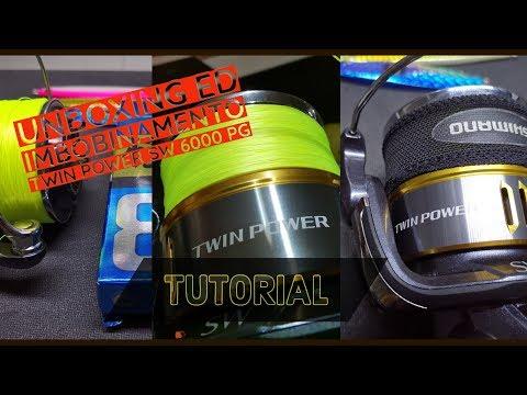 shimano twin power sw 6000 pg - unboxing e caricamento trecciato - clipangler