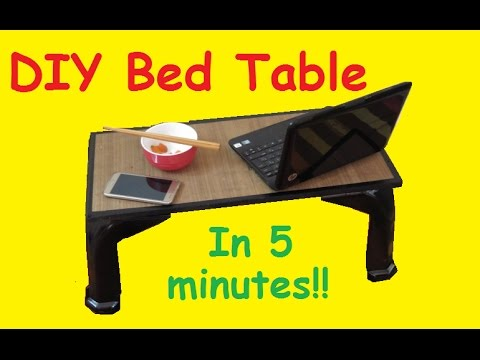 DIY How To Make Bed Table   YouTube