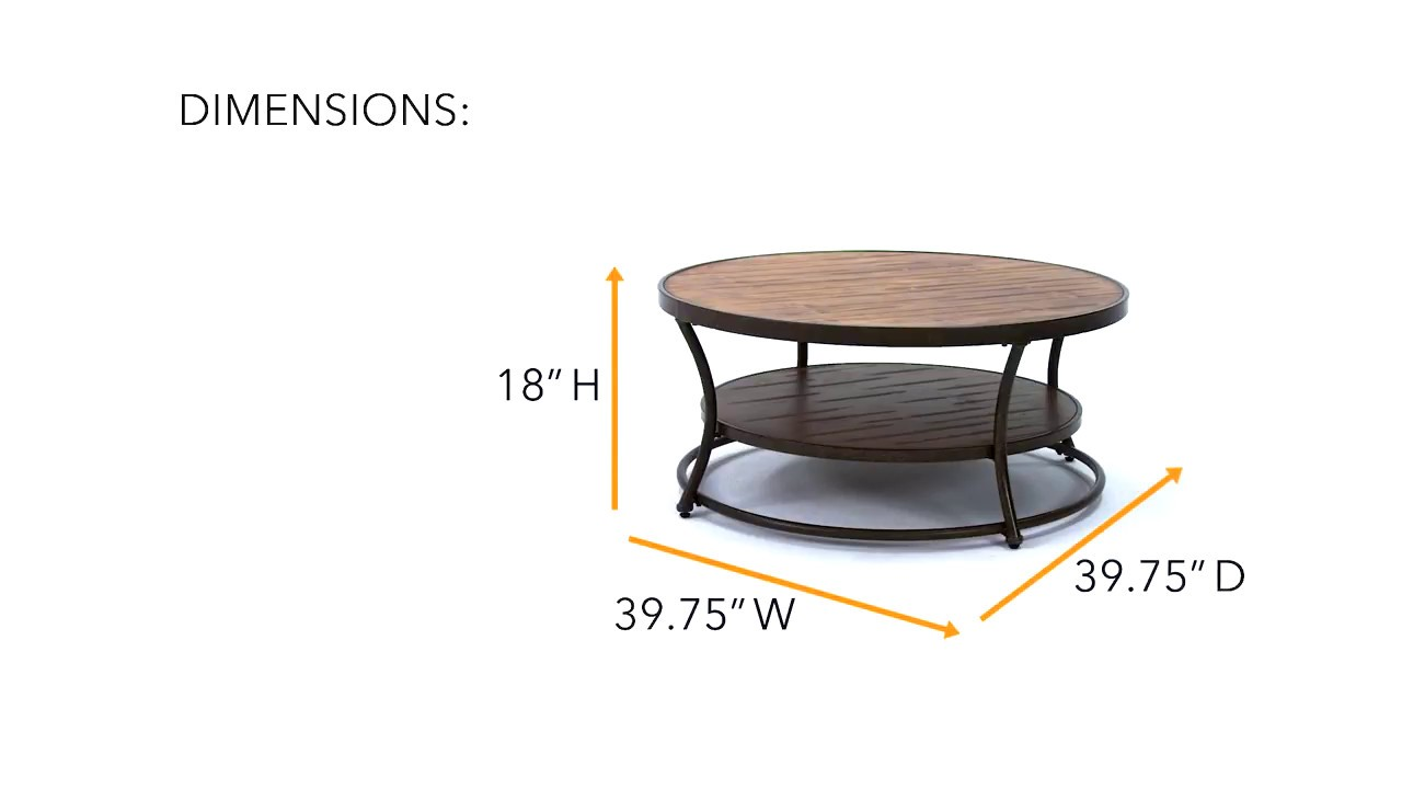 Nartina Round Cocktail Table from Ashley - YouTube