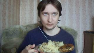 картошка с курицей, еда без соли, эмо и панки