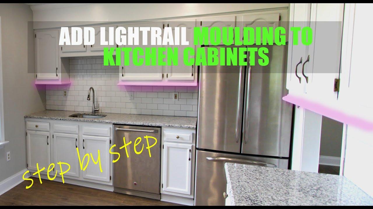Must Watch When Installing Kitchen Cabinets How To Add Light Rail Moulding To Kitchen Cabinets Youtube