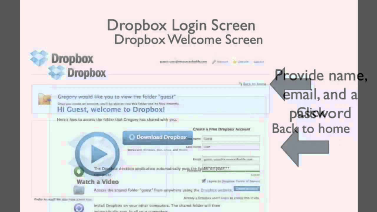 Dropbox Invitation Account Signup YouTube