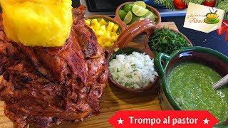 Tacos al pastor receta casera  Trompo al pastor