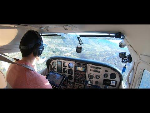 Landing at Kern Valley Airport