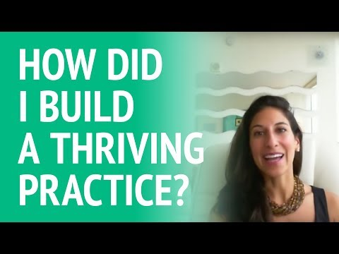 How did I build a thriving psychotherapy practice?