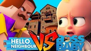 HELLO NEIGHBOUR VS BOSS BABY!!! - Minecraft Little Club Adventures
