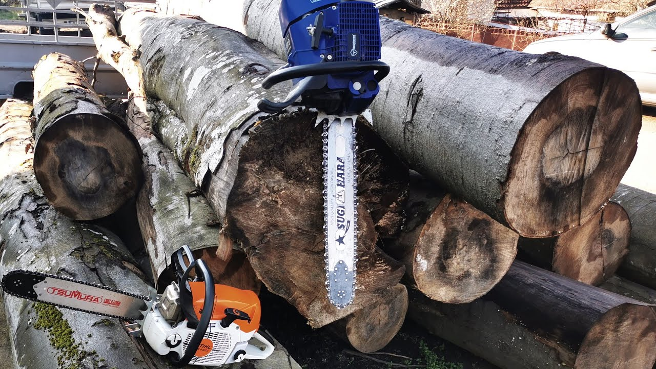 Stihl MS462 & Holzfforma G466 cutting firewood!